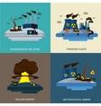 Environmental Pollution Icon Set vector image