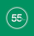 55 year anniversary celebration logo 55th design