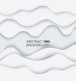abstract background from gray paper waves vector image