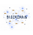 abstract circuit networking blockchain concept for vector image vector image