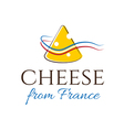 Abstract of cheese and flag France vector image