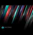 abstract technology striped oblique blue red vector image vector image