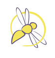 bee sign vector image vector image