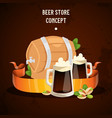 beer in beerhouse brewery beermug vector image