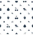 berry icons pattern seamless white background vector image vector image