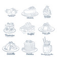 berry mix dessert collection icons isolated vector image vector image