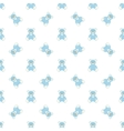 blue bear pattern vector image vector image