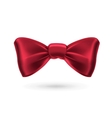 Bow tie red vector image vector image