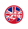 british lit operator union jack flag icon vector image vector image
