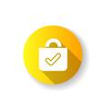 buy yellow flat design long shadow glyph icon vector image vector image