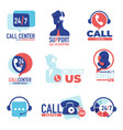 call center customer support 24 7 communication vector image