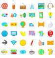 carrier icons set cartoon style vector image vector image