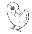 cartoon cute duck coloring page vector image