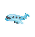cartoon passenger airplane small blue plane with vector image vector image