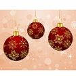christmas background with set balls vector image vector image