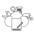 cloud and book vector image vector image