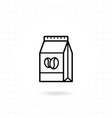 coffee paper bag icon vector image