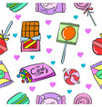 collection stock of candy cute design doodles vector image vector image