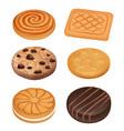 cookies delicious food dessert sweets creamy vector image