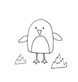cute penguin cartoon animal baby and children vector image