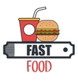 delicious hamburger isolated icon design vector image