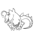 dragon without color vector image