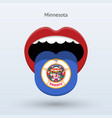 electoral vote of minnesota abstract mouth vector image vector image
