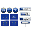 European EU flag collection vector image vector image