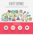 Event agency concept organization of party