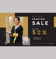 fashion social media promotion landing page vector image