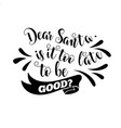 funny christmas quote vector image vector image