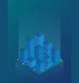 future city flat isometric vector image vector image
