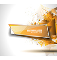 Glass Banner with Abstract Shape and glossy effect vector image vector image