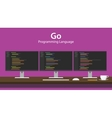 Go programming language code vector image vector image
