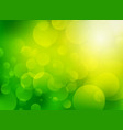 green blurred circle bio background vector image