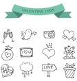 Hand draw icon of valentine day vector image vector image