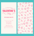 happy valentines day light greeting card vector image vector image