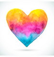 heart-pink-yellow-blue-shape vector image vector image