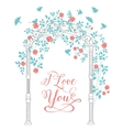 I love you text card vector image