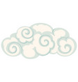 isolated cloud chinese style vector image vector image