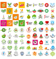 large set of logo of a healthy lifestyle vector image vector image