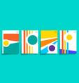minimal modern art design for cards poster flyer vector image vector image