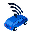 modern driverless car icon isometric style vector image vector image