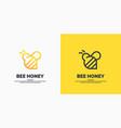modern linear logos for beekeepers stickers vector image vector image