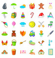 Mother holiday icons set cartoon style vector image