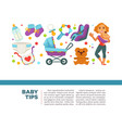motherhood happy mother and newborn child poster vector image vector image