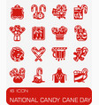 national candy cane icon set vector image