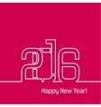 new year 2016 design vector image vector image