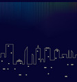 northern lights over night city buildings vector image vector image