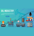 oil industry banner infographics vector image